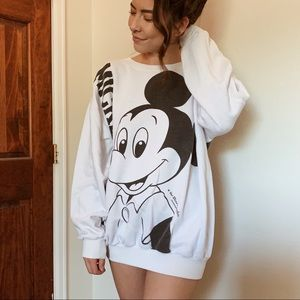 Rare Vintage B&W Mickey Mouse Sweatshirt